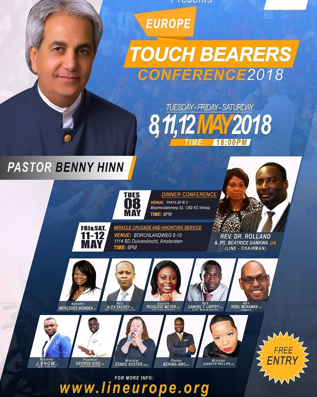Benny Hinn- Europe Torch Bearer Conference 2018 | Breath Of